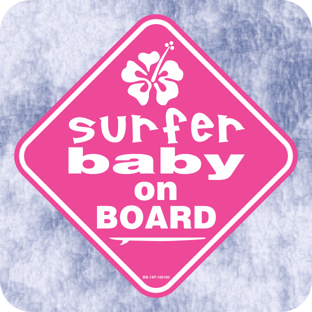 Surfer Baby On Board Klein Signs
